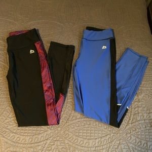 Women's Blue and Black Leggings RBX Size Small